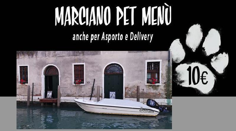 Marciano Pub Venezia Menù per cani